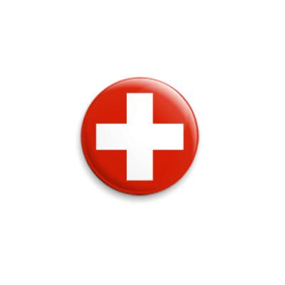 Значок 25мм  Швейцария ()