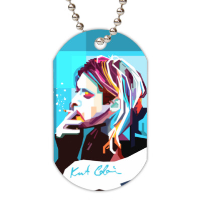 Жетон dog-tag Kurt Cobain