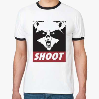 Футболка Ringer-T Raccoon Shoot