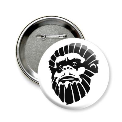 Значок 58мм Лицо обезьяны
