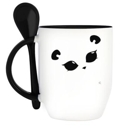 Кружка с ложкой Панда