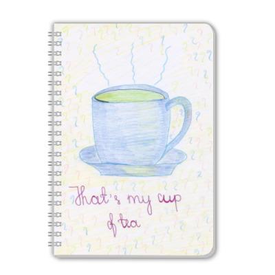 Тетрадь 'Mu cup of tea'
