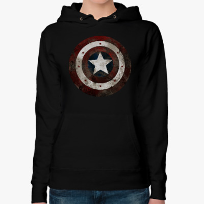 Женская толстовка худи Капитан Америка