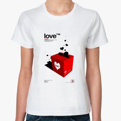 Классическая футболка Love (TM)