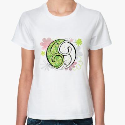 Классическая футболка Коты 69-клевер и ромашки
