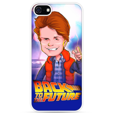 Чехол для iPhone Назад в Будущее. Марти.