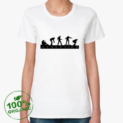Женская футболка из органик-хлопка 'Evolution'