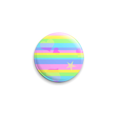 Значок 25мм  Rainbow Stripes