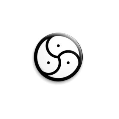 Значок 25мм Лого BDSM
