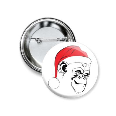Значок 37мм Bad Santa