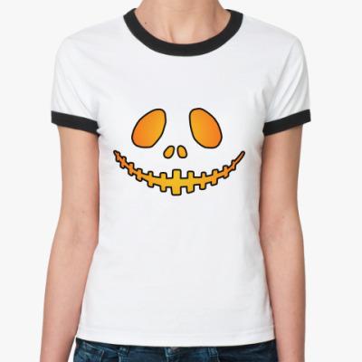 Женская футболка Ringer-T Helloween Smile R-T Ж()