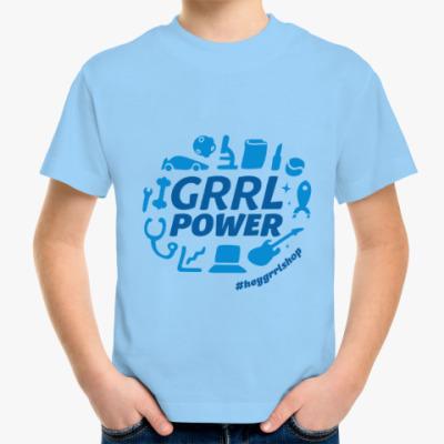 Детская футболка Grrl Power детская