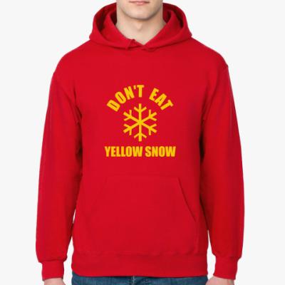 Толстовка худи No yellow snow