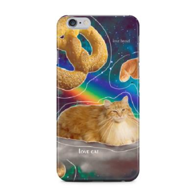 Чехол для iPhone 6 Plus Космический кот на облаке