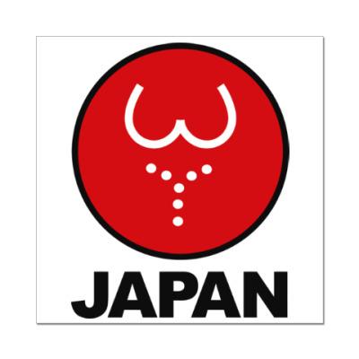 Наклейка (стикер) Японская леди
