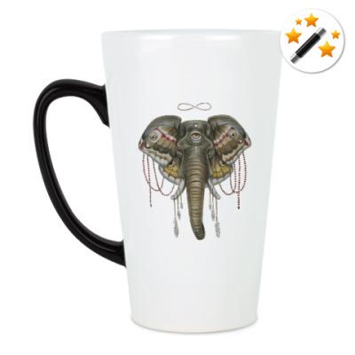 Кружка-хамелеон Индийский слон