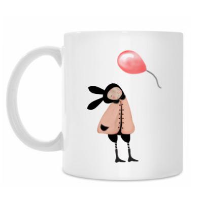 Кружка 'Заяц и шарик'