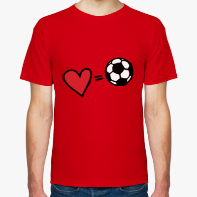 Футболка Love equals football