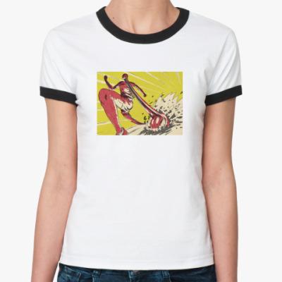 Женская футболка Ringer-T  Teeth