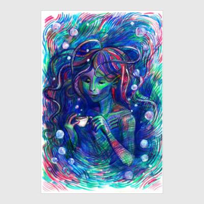 Постер Русалка Амфибия Mermaid