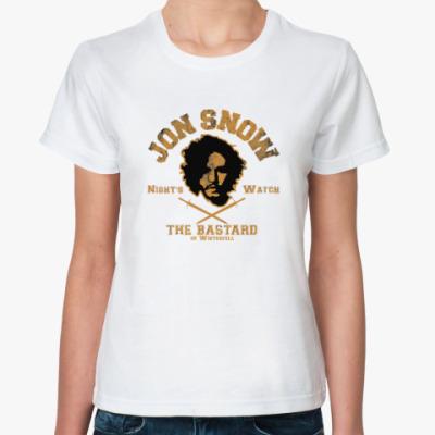 Классическая футболка Jon Snow Игра престолов