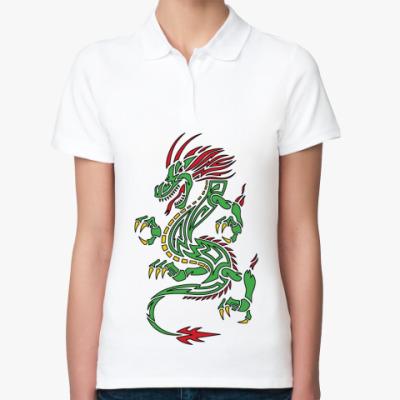 Женская рубашка поло Дракон