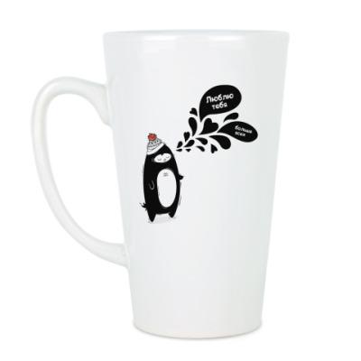 Чашка Латте  Влюбленный пингвин