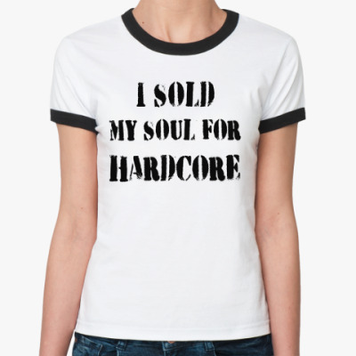 Женская футболка Ringer-T   I SOLD