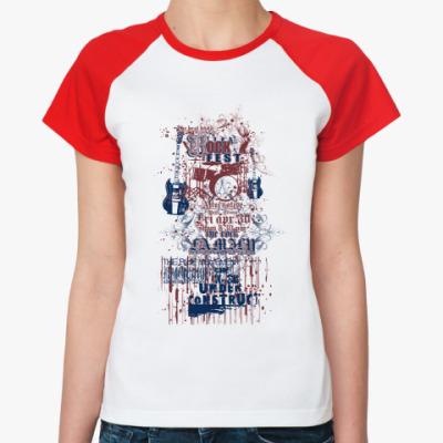Женская футболка реглан Rock fest