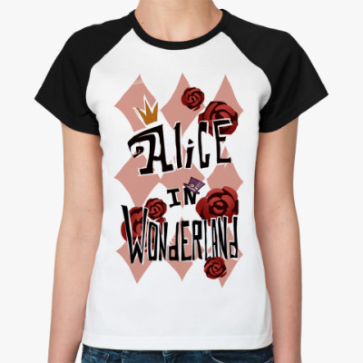 Женская футболка реглан   Alice