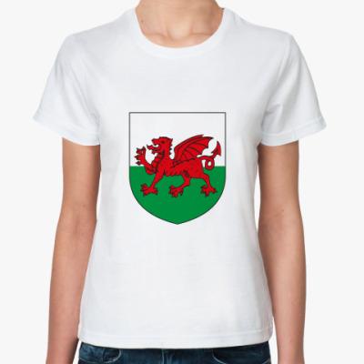 Классическая футболка Герб Уэльса