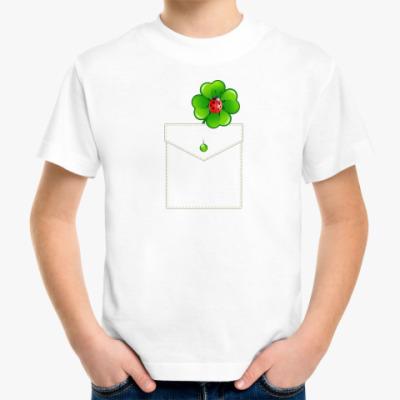 Детская футболка Кармашек с клевером