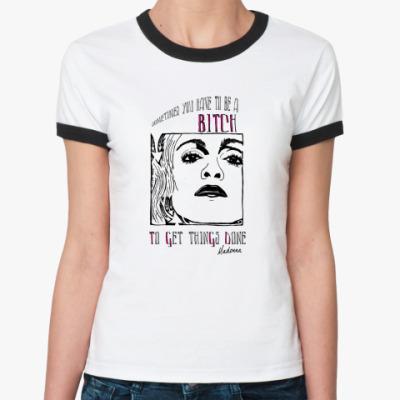 Женская футболка Ringer-T Мадонна