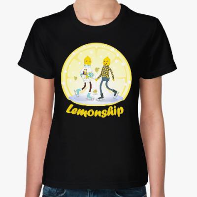 Женская футболка Зимние Лимонохваты