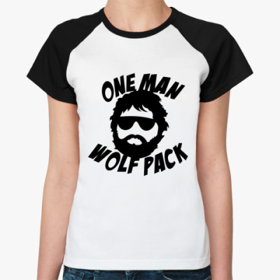 Женская футболка реглан  Человек-волчья стая