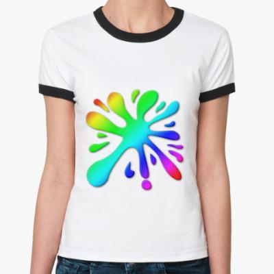 Женская футболка Ringer-T   'Клякса'