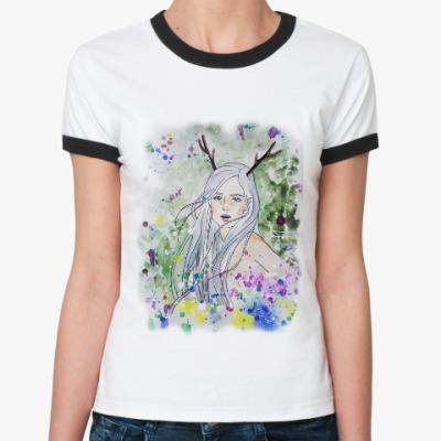 Женская футболка Ringer-T Лесная фея, эльф