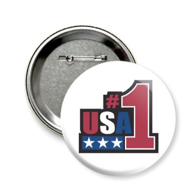 Значок 58мм USA 1