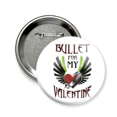 Значок 58мм Bullet for my Valentine