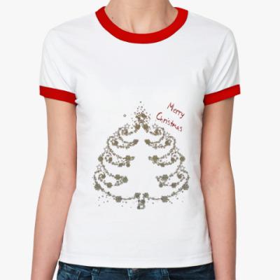 Женская футболка Ringer-T новый год