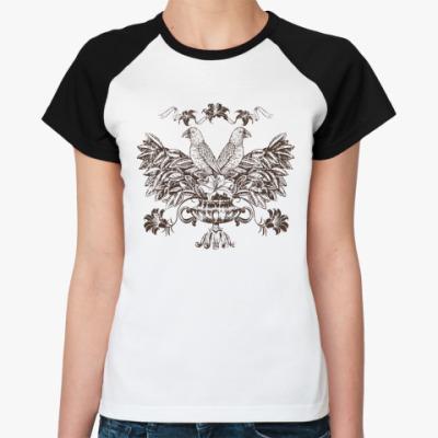 Женская футболка реглан Герб