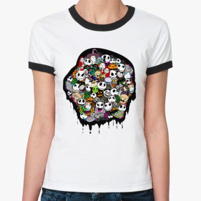 Женская футболка Ringer-T Nightmare   Ж ()