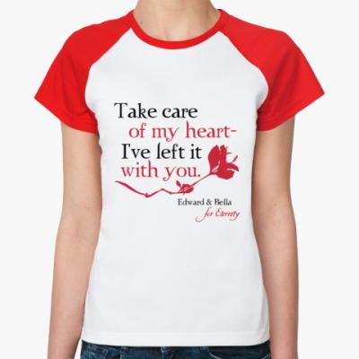 Женская футболка реглан Take care