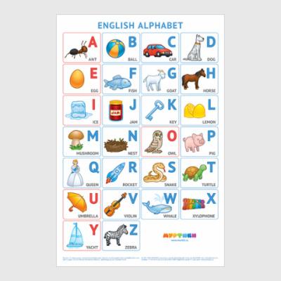 Постер Английский алфавит Муртики