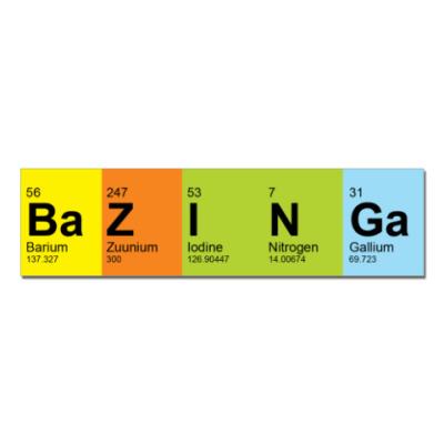 Наклейка (стикер)  BaZINGa