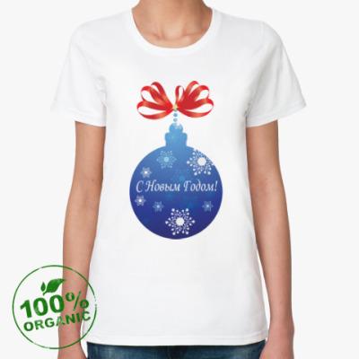 Женская футболка из органик-хлопка С Новым годом!