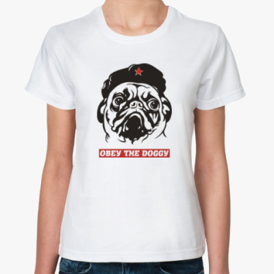Классическая футболка Obey the doggy