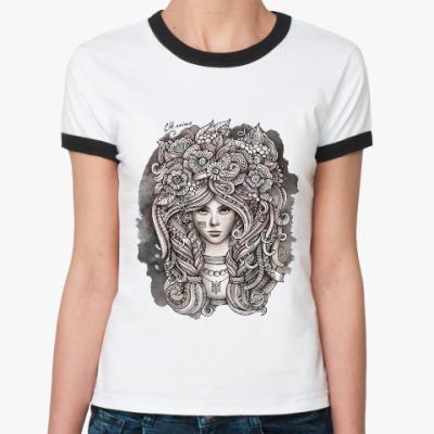 Женская футболка Ringer-T Ukrainian girl