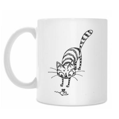 Кружка Кот с мышкой