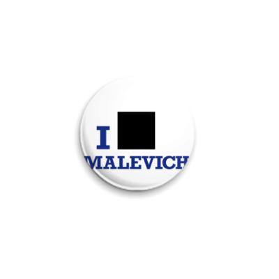 Значок 25мм  25 мм Malevich син.